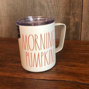 Rae Dunn Morning Pumpkin Stainless Steel Mug